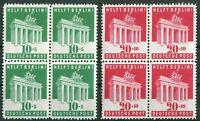 Alliierte Besetzung Bizone 101 - 102 VB Viererblock postfrisch 1948 MNH