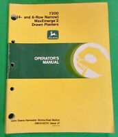 John Deere 7200 Conservation Planter Operator's Manual (4R 38-30 & 6R-30 Models)