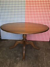 Stunning Ercol Chester Solid Elm & Ash Model 1166 Pedestal Kitchen Dining Table