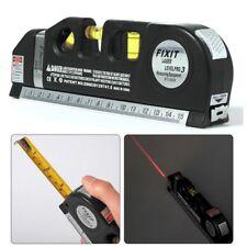 8FT Laser Level Measuring Tape Horizontal Vertical Line Measure Tape Ruler