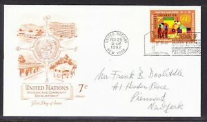 """United Nations """"Artmaster"""" 1962 Community Housing First Day Cover  Addressed"""