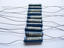 100 NOS Vintage Blue Molded Capacitors .0075 MFD @ 400 VDC