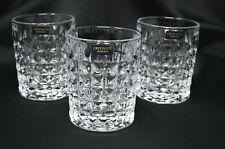 Tumbler set of 6 Crystal Glass Whiskey Vodka Rocking Glass 8oz Bohemia Czech NEW