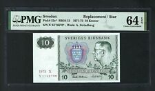 Sweden 10 Kronor 1975 P52c* Replacement Uncirculated Grade 64