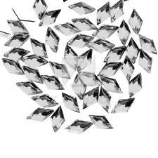 1000pcs 3mm Acrylic Crystal Flat Back Rhinestone Diamante Gems Nail Art Rhombus