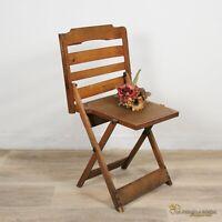Sedia antica vintage pieghevole richiudibile sediolina in legno bambino pic nic