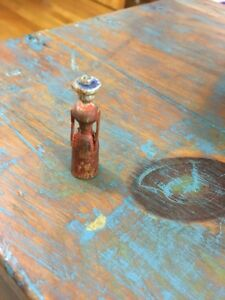 Antique AAFA Folk Art Primitive Carved Miniature American Lady Figure Americana