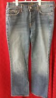 7 For All Mankind Boy Cut Jeans Women's Sz 28 Medium Wash Jeans Cotton USA made