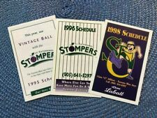 Lot of 3 different St Catharines Stompers & Blue Jays class A baseball schedule