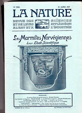 La Nature N° 2286  -   Juillet 1917 - Revue des sciences - Marmites Norvégiennes