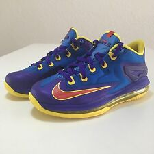 Nike Max LeBron XI 11 Low GS Basketball Superman Blue Concord 644534-401 Sz 5.5Y