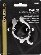 Origin8 MaxFit 28.6mm Braze-On Front Derailleur Adapter Road MTB Bike - Silver