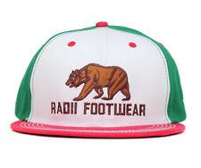 Radii Footwear Men's Cali Life Snapback Hat-White/Green/Red