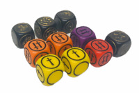 2003 Parkers Games Dungeons & Dragons Complete Set of 10 Dice Spares