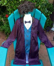NEW AUTHENTC 11TH DR DOCTOR WHO MATT SMITH COSTUME JACKET WIG CHILD BOY M L 8 10
