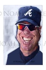 Chipper Jones Atlanta Braves Sports Art Print by Noah Stokes