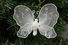 White Butterfly Christmas Ornament