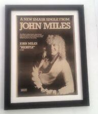 JOHN MILES Highfly 1975*ORIGINAL*POSTER*AD*FRAMED*FAST WORLD SHIP