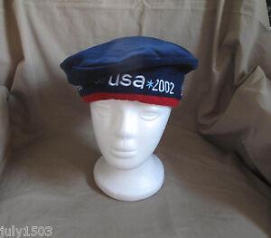(1) NEW 2002 Salt Lake Winter Olympics Beret USA Navy Blue Roots cap hat
