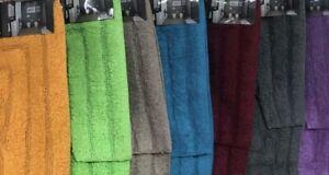 new 2 piece  bath mat set cotton absorbent bathmat ultra soft latte brown mocha