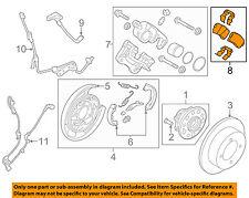 KIA OEM 17-18 Cadenza Brake-Rear-Disc Brake Pads 58302F6A10