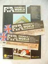 FORMULA 1 WORLD 14 15 JULY 1989 SILVERSTONE BRITISH GRAND PRIX + tickets