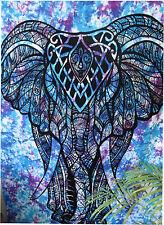 éléphant tapisserie double Indie Tenture murale Hippie Mandala décor Jeté de lit