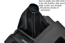 WHITE STITCHING FITS HONDA ACTY TN REAL LEATHER GEAR GAITER