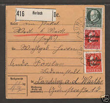 Bavaria Sc 107/140 on 1919 Packetcard to Landsberg, VF