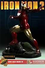 "SIGNED BY ""STAN LEE"" SIDESHOW EXCLUSIVE NEW!! IRON MAN Mark VI MAQUETTE STATUE"