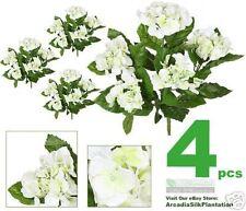 "FOUR 16"" Hydrangea Artificial Flowers Silk Plants CWGR"