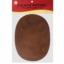 Two Faux-Suede Iron-On Elbow Patches 4.5  x 5.5 in - Brown