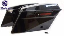 Complete Black out Blackout Hard Saddlebags Saddle bags for Harley Touring model