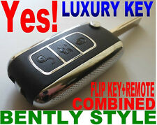 BENTLEY STYLE KEY FOR 2001~2005 A4 REMOTE KEYLESS ENTRY FOB CHIP TRANSPONDER FOB