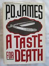Adam Dalgliesh Mystery A Taste for Death by P. D. James 1986 HC W/DJ 1st Edition