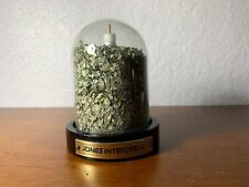 Vtg Glass Money Dome $50,000 Shredded Currency Jones Intercable Coaxial Cable
