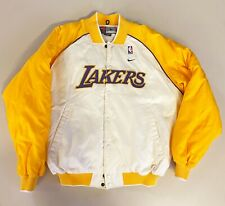 Nike NBA Los Angeles Lakers Warm Up Heavy Jacket LA Kobe Magic Shaq Kareem