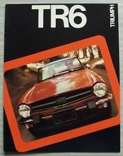TRIUMPH TR6 USA Car Sales Brochure 1975 #TR752