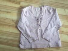 So bin ich Damen Shirt rosa geschnürt L 44 46 Pulli Pullover XL Pulli