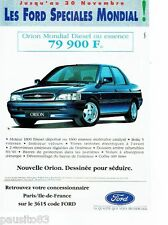 PUBLICITE ADVERTISING 116  1992  La  nouvelle Ford  Orion 1800d Mondial