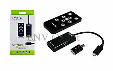 Remote Control Micro USB MHL to HDMI HDTV Cable Adapter for Samsung HTC LG SONY