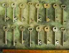 Set Lot 16 Antique Skeleton Keys Wedding Steampunk - More Old Key Sets Here!