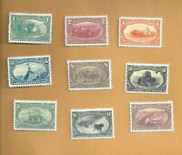 Complete set of 1898 Trans Mississippi Stamps -  GREAT SET OF REPRODUCTIONS