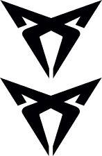 2 X SEAT DECAL VINYL STICKERS CUPRA LEON  (195mm x 150mm) ANY COLOUR