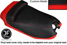 BLACK AND RED VINYL CUSTOM FITS HYOSUNG GRAND PRIX 125 DUAL SEAT COVER ONLY