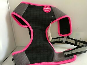 Black,Hot Pink , and Silver Reflective harness