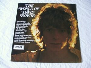 THE WORLD OF DAVID BOWIE 1st UK PRESS - RARE TRANSITIONAL LABELS, BARELY PLAYED