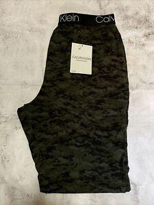 Calvin Klein Mens Sleepwear Pants Camo Green Size Medium