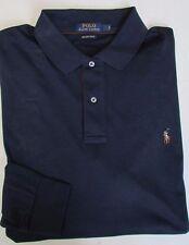 NWT Polo Ralph Lauren LS Polo Shirt Pima Soft Touch Suede Placket TALL Sz 4XLT