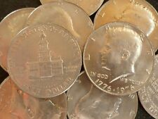 USA Bulk Lot Of 10 Clad Bicentennial Kennedy Half Dollars 1976 Independence Hall